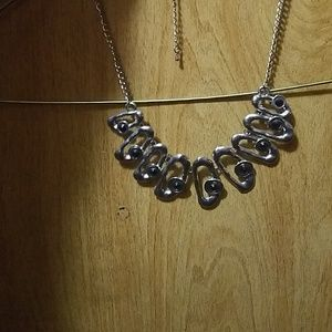 Silver/black necklace